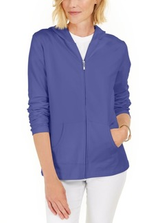 Karen Scott Zip-Front Hoodie, Created for Macy's