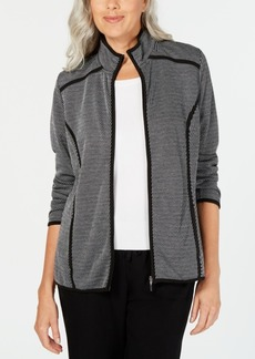 Karen Scott Zip-Up Jacket, Created for Macy's