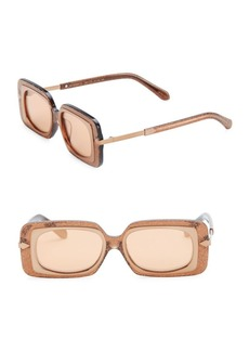 Karen Walker 51MM Mr. Binnacle Tobacco Glitter Sunglasses