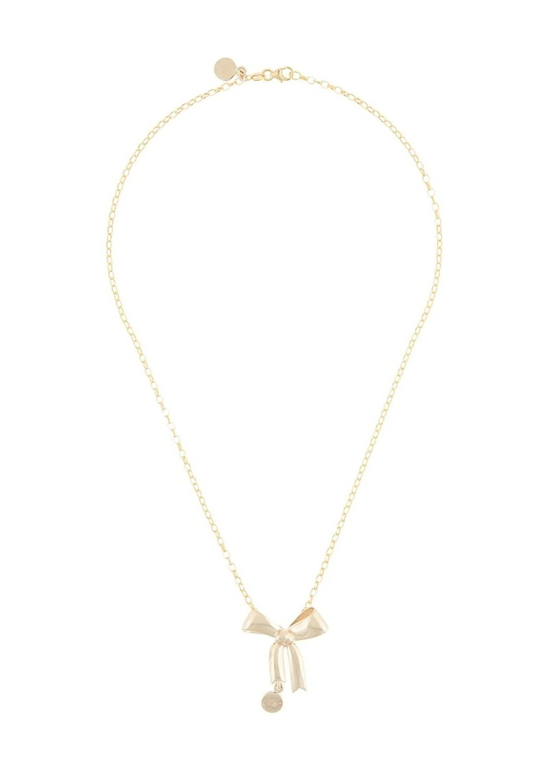 Karen Walker 9kt gold bow pendant necklace