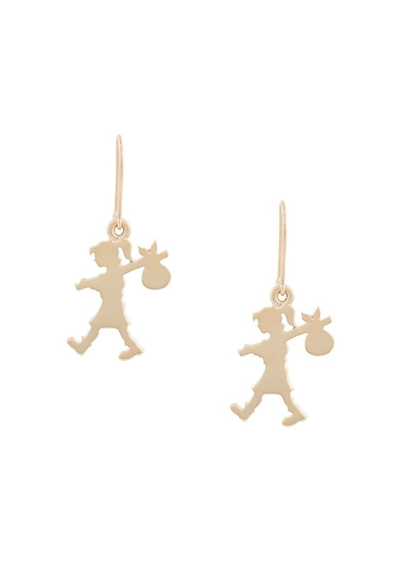 Karen Walker 9kt gold Runaway Girl earrings