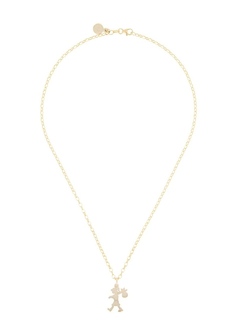 Karen Walker 9kt gold Runaway Girl pendant necklace