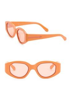 Karen Walker Castaway 48MM Oval Sunglasses