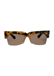 Karen Walker Ezra 58MM Cat Eye Sunglasses