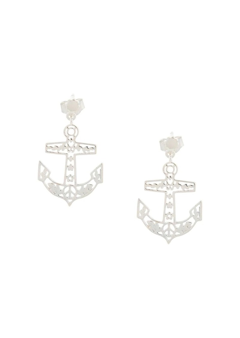 Karen Walker filigree anchor studs