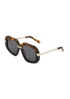 Karen Walker Hollywood Creeper Havana Acetate/Metal Sunglasses