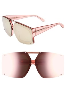 Karen Walker 70mm Mirrored Oversized Sunglasses