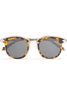 Karen Walker Bounty Round-frame Tortoiseshell Acetate And Gold-tone Sunglasses