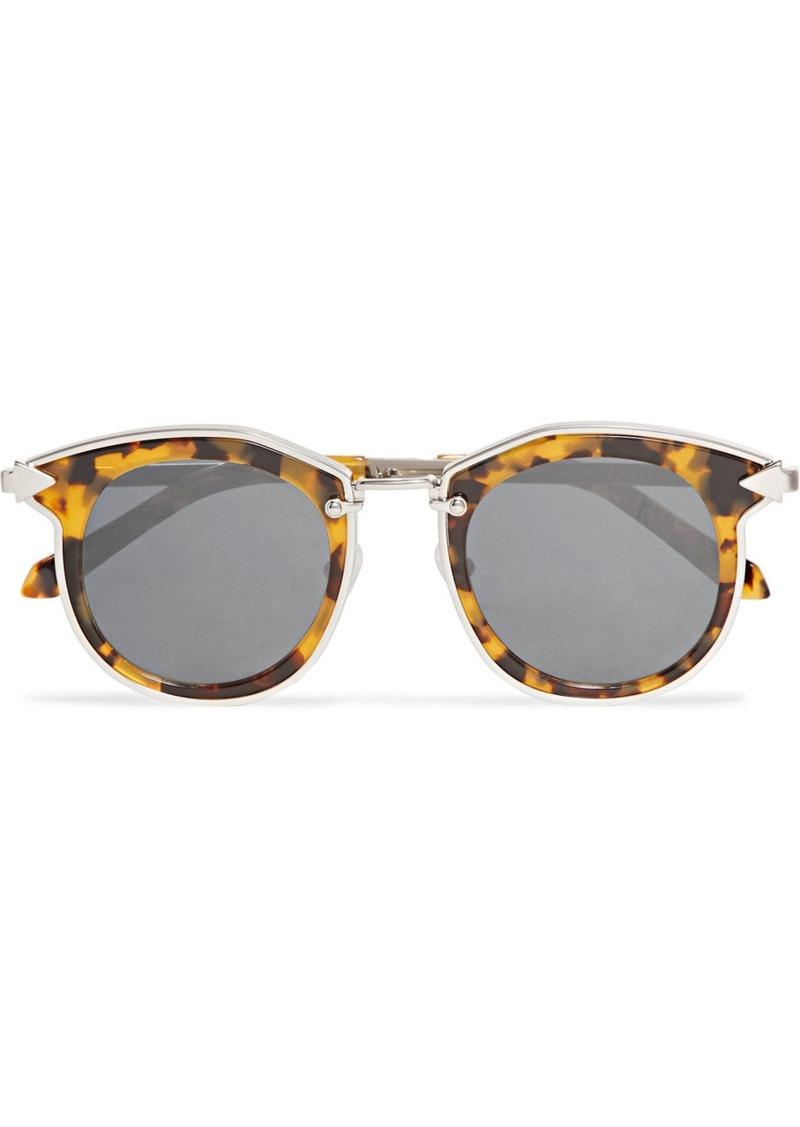 f4cb2bf336c Karen Walker Bounty round-frame tortoiseshell acetate and gold-tone  sunglasses
