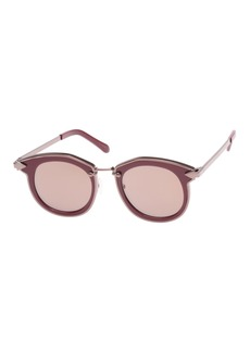 Karen Walker Bounty Two-Tone Round Sunglasses