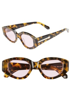 Karen Walker Castaway 48mm Round Sunglasses