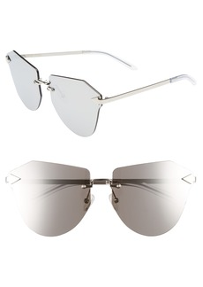 Karen Walker Dancer 64mm Mirrored Lens Rimless Sunglasses