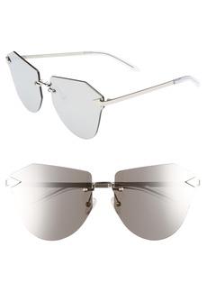Karen Walker Dancer 64mm Mirrored Lens Rimless Sunglasses
