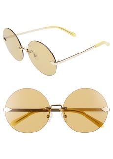 Karen Walker Disco Circus 60mm Rimless Round Sunglasses