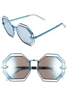 Karen Walker 'Emmanuel' Octagonal 55mm Sunglasses