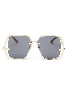 Karen Walker Eyewear Hypatia square metal sunglasses