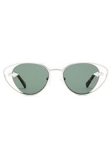 Karen Walker Eyewear Kissy Kissy cat-eye metal sunglasses