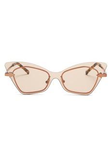4f093aa084dd Karen Walker Karen Walker Mrs. Brill Cat-Eye Semi-Rimless Sunglasses ...