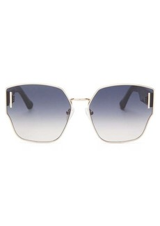 Karen Walker Eyewear Oracle oversized-butterfly metal sunglasses
