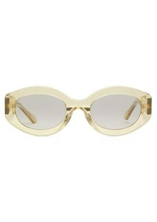 Karen Walker Eyewear Oval-frame acetate sunglasses