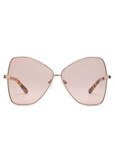 Karen Walker Eyewear Queen butterfly-frame metal sunglasses
