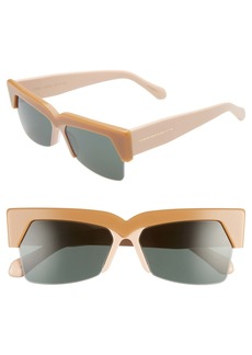 Karen Walker Ezra 58mm Semi Rimless Sunglasses