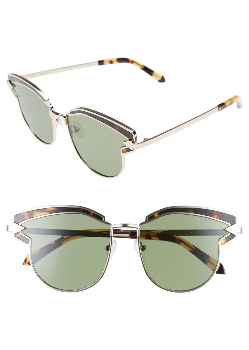 d0ad60fec88 Karen Walker Karen Walker Felipe 50mm Retro Sunglasses