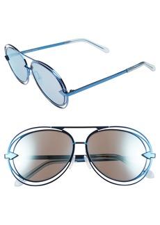 Karen Walker 'Jacques' Aviator 57mm Sunglasses