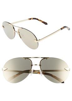 Karen Walker Love Hangover 60mm Mirrored Lens Aviator Sunglasses