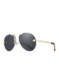 Karen Walker Love Hangover Semi-Rimless Aviator Sunglasses