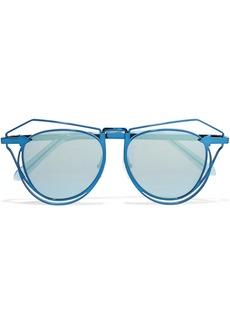 Karen Walker Marguerite aviator-style metal mirrored sunglasses