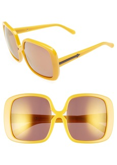 Karen Walker Marques 55mm Square Sunglasses