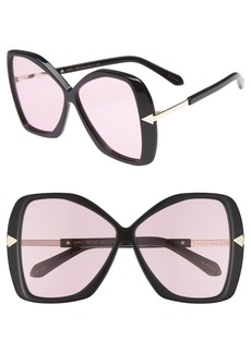 Karen Walker Mary 60mm Butterfly Sunglasses