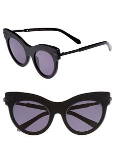 Karen Walker Miss Lark 52mm Cat Eye Sunglasses