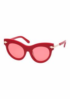 Karen Walker Miss Lark Cat-Eye Acetate Sunglasses