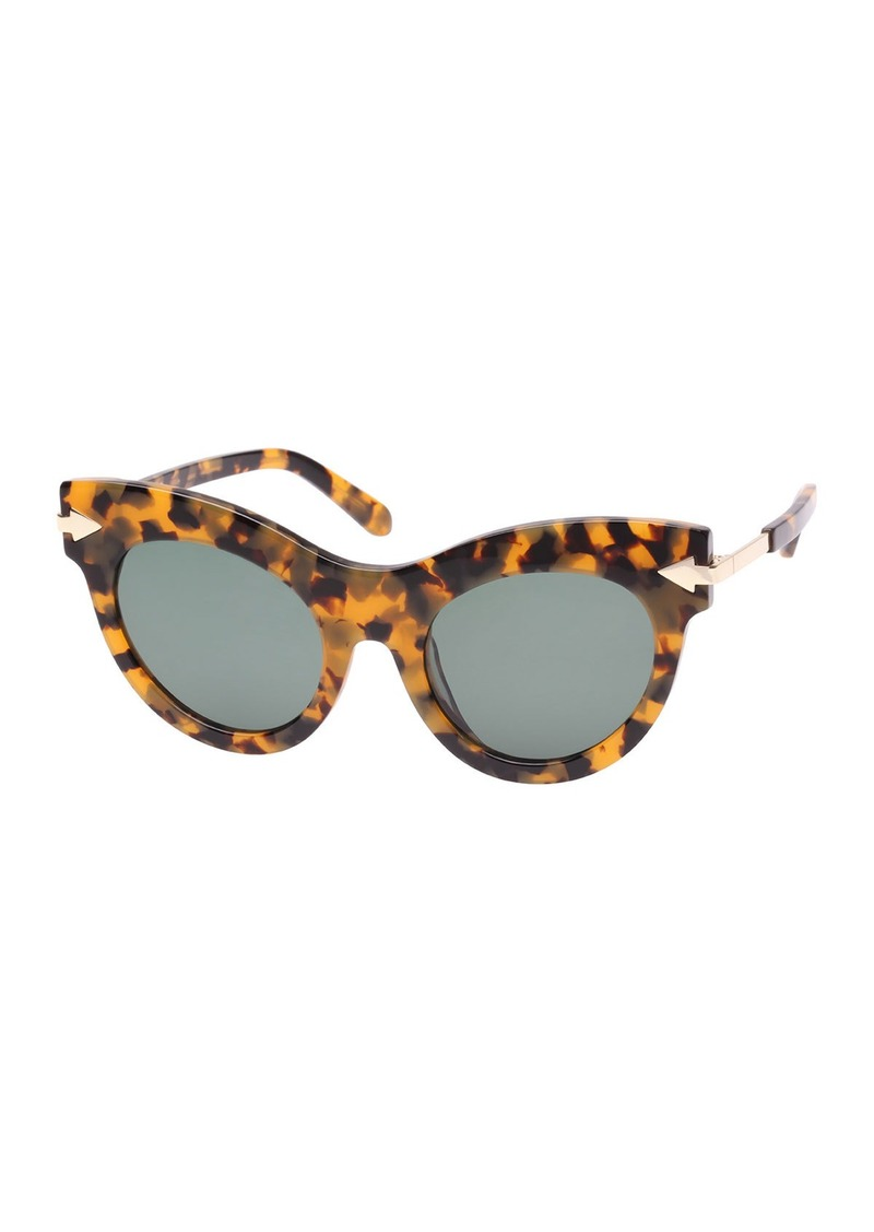 4abf466f3d5e Karen Walker Miss Lark Tortoise Cat-Eye Sunglasses