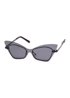 Karen Walker Mrs. Brill Cat-Eye Semi-Rimless Sunglasses