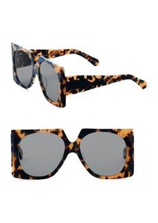 Karen Walker Return to Sender 56MM Leopard Square Sunglasses