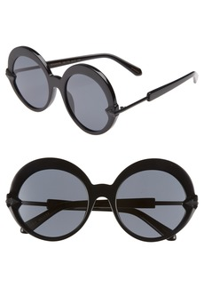 Karen Walker Romancer 56mm Round Sunglasses