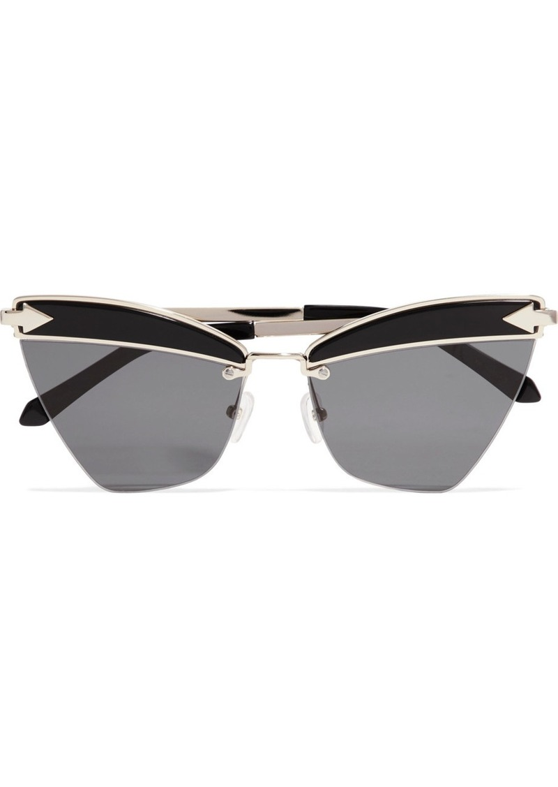 0da2fc6d751 Karen Walker Sadie Cat-eye Acetate And Gold-tone Sunglasses