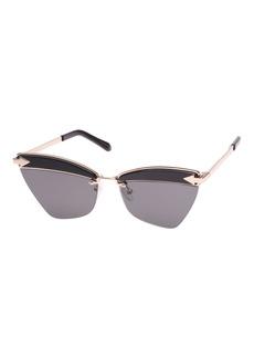 Karen Walker Sadie Cat-Eye Geo Sunglasses