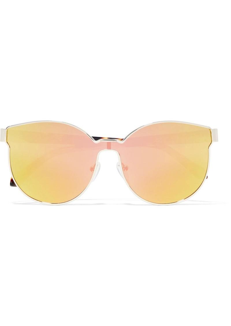 6543fae2d31 Karen Walker Star Sailor round-frame gold-tone and acetate mirrored  sunglasses