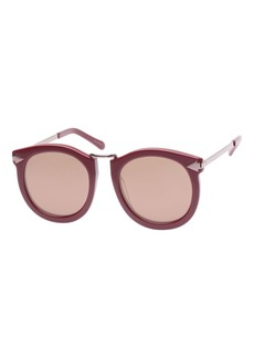 Karen Walker Super Lunar Round Mirrored Sunglasses