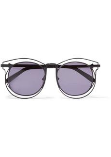 Karen Walker Superstars Simone aviator-style metal sunglasses