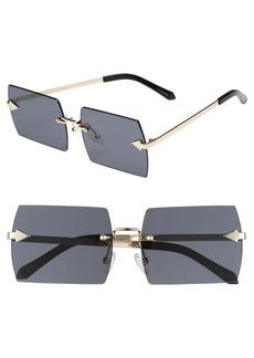 Karen Walker The Bird 58mm Rimless Sunglasses