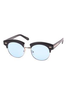 Karen Walker The Constable Round Semi-Rimless Sunglasses