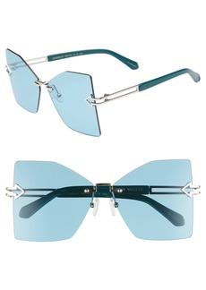 Karen Walker Wanderlust 61mm Butterfly Sunglasses