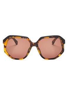 Karen Walker Women's Round Sunglasses, 58mm