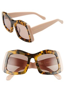 Karen Walker Wyndham 53mm Irregular Square Sunglasses