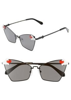 Karen Walker x Disney Mickey Mouse Heart Hands 58mm Cat Eye Sunglasses